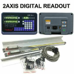 10 40 Linear Glass Scale 2Axis Digital Readout DRO Display For Mill Lathe CNC