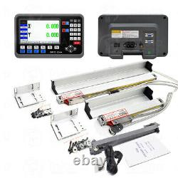 10 & 40 Linear Scale 2Axis DRO Display LCD Digital Readout Milling Lathe Kit