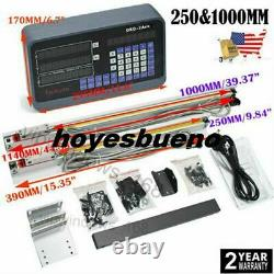 10 X 40 Digital Readout 2axis Dro Display Linear Scale Encoder MILL Lathe Us