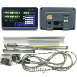 10x402Axis Digital Readout DRO 5um Linear Glass Scale Kit for Bridgeport Mill