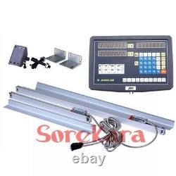 1/2/3 Axis Digital Readout DRO 3 Glass Linear Scale Kits For Milling Lathe
