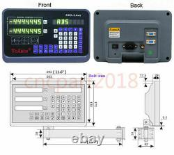 1/5um Linear Scale Sensor 2/3/4 Axis Digital Readout DRO Display for Mill Lathe