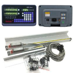 200&350mm 2Axis Linear Scale DRO Digital Readout Display Bridgeport Knee Mill