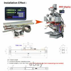 200&400&500mm 3pc Linear Scales with 3Axis Digital Readout DRO Display Mill Lathe