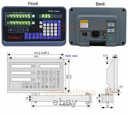 2Axis 200&600mm TTL Linear Glass Scale Digital Readout DRO Display CNC Milling