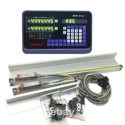 2Axis DRO Digital Readout Linear Glass Scale for Milling Lathe 500&1000mm