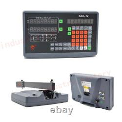 2Axis DRO Digital Readout TTL Linear Glass Scale 500&1500MM DRO Display Milling