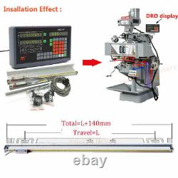 2Axis Digital Readout 1µm TTL Linear Glass Scale 200&700MM DRO Display Milling