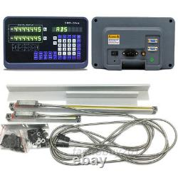 2Axis Digital Readout DRO Display+2pc Linear Scale Mill Mearsuing Sensor 5µm Kit