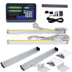 2Axis Digital Readout Display 5m Linear Scale Encoder DRO Kit CNC Milling Lathe