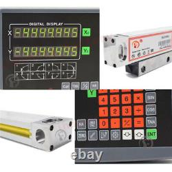 2Axis Digital Readout Linear Scale DRO Display 500&650mm Milling Lathe Encoder