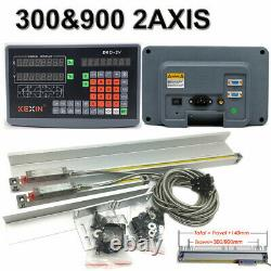 2Axis Digital Readout Milling Lathe TLL Linear Scale 300mm & 900mm DRO Encoder