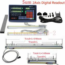 2Axis Digital Readout TTL Linear Scale 750&250mm DRO Encoder For Milling Lathe