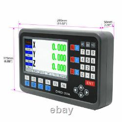 2/3Axis DRO Digital Readout Display+ 5m TTL Linear Scale CNC Mill Lathe Machine