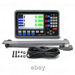 2/3Axis Digital Readout DRO LCD TTL Glass Linear Scale Encoder CNC Milling Lathe