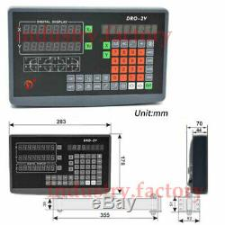 2/3/4/5Axis Digital Readout DRO Display 5µm TTL Linear Scale for Bridgeport Mill