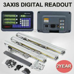 2/3 Axis DRO Digital Readout Display Linear Scale 5m CNC Mill Lathe Machine