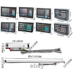 2/3 Axis DRO Digital Readout Display TTL Linear Scale 5m for CNC Milling Lathe