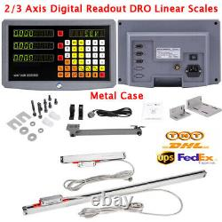 2/3 Axis Digital Readout DRO Linear Scales for Lathe Milling Drill EDM CNC KA300