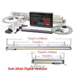 2/3 Axis Digital Readout Linear Scale DRO Display 5m 1m Milling Lathe Encoder