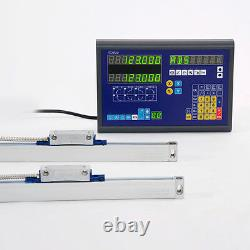 2 AXIS DRO DIGITAL READOUT MILL LATHE MACHINE WITH LINEAR SCALE BiGa GOOD ITEM