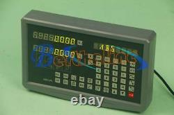 2-Axis DRO Digital Display Readout For Mill Lathe Machine Linear Glass Scales