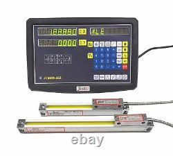 2 Axis DRO Digital Readout Kit for Milling Lathe Machine Linear Scale 2501000mm