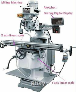 2 Axis DRO Digital Readout for Milling Lathe EDM with 2x linear scale GCS900-2D