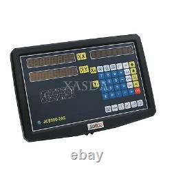 2-Axis DRO Readout Digital Display Meter with Linear Scale LCD for Milling Lathe