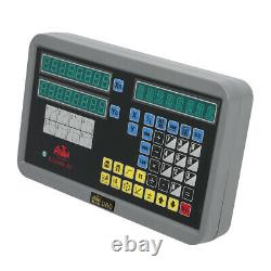 2 Axis Digital Display Readout Dro Kit For MILL Lathe Machine With Linear Scales
