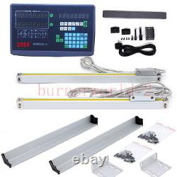2 Axis Digital Readout 5um Linear Scale DRO Display CNC Milling Lathe Encoder