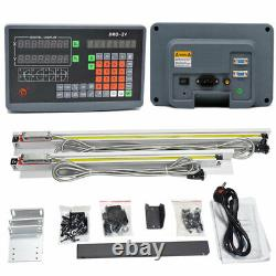2 Axis Digital Readout DRO+2pc TTL Linear Scale 200&450MM for Mill Lathe Machine