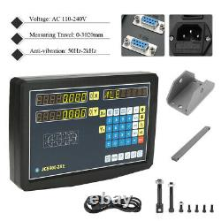 2 Axis Digital Readout DRO with Accessories for Lathe Milling Machine AC110-240V