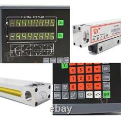 2 Axis Digital Readout Linear Scale 5m 300&650mm DRO Encoder Ruler Milling Kit