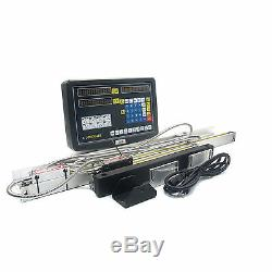 2 Axis Digital Readout and Glass Linear Scale DRO kits For Mill BRIDGEPOR Lathe