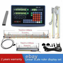 2 Axis Digital Readout with 900&400mm Linear Scale Encoder DRO Ruler for Milling