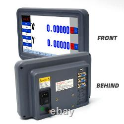 2 Axis Dro Digital Readout LCD Touch Screen+2PCS Linear Glass Scale Kit Mill CNC