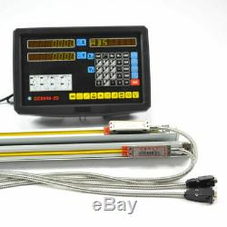 2 Axis Dro & Travel Readout MILL Lathe Digital Display Console Scale Linear