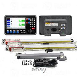 2 Axis LCD DRO Digital Readout Display+250&1000mm Linear Scale Bridgeport Mill