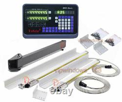 350&1500mm Linear Scale Dro 2Axis Digital Readout Display CNC Mill Lathe Encoder