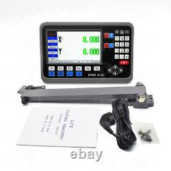 350&550mm Linear Scale Glass Sensor 2Axis Digital Readout DRO Display Milling