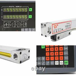 3Axis Digital Readout DRO Display 150&300&350MM Linear Glass Scale Kit Mill CNC