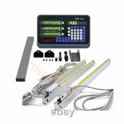 3Axis Digital Readout DRO Display+3pc TTL Linear Glass Scale 5µm CNC Mill Lathe