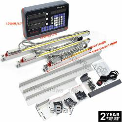 3Axis Digital Readout DRO Display+3pc TTL Linear Scale 5µm for CNC Milling Lathe