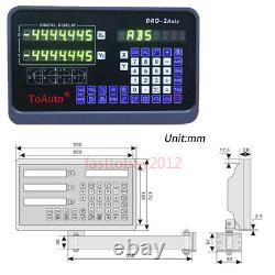 3Axis Digital Readout DRO Display TTL Linear Glass Scale Milling Lathe Tool CNC