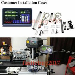 3Axis Digital Readout DRO For Milling Lathe Machine Linear Glass Scale Kit