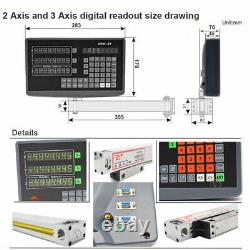 3Axis Dro Digital Readout 5µm TTL Linear Scale 300&650&800MM for Lathe Mill CNC