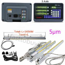 3Axis Linear Scale Glass DRO Digital Readout Display Milling Lathe 250&550&800