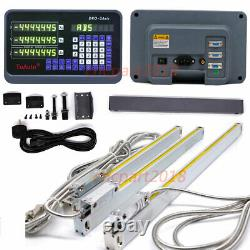 3 Axis DRO Digital Readout Displayer 5µm 250&400&350mm CNC Milling Linear Scale