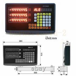 3-Axis DRO Digital Readout for Milling Lathe Machine +3pcs Linear Glass Scales